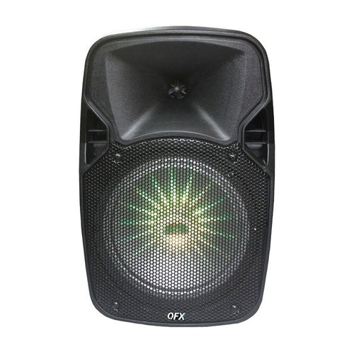QFX PBX-811SM Portable Bluetooth Speaker with Stand and Microphone