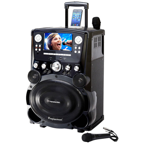 "KaraokeUSA GP-978 DVD/CDG/MP3G System with 7"" TFT Color Screen"