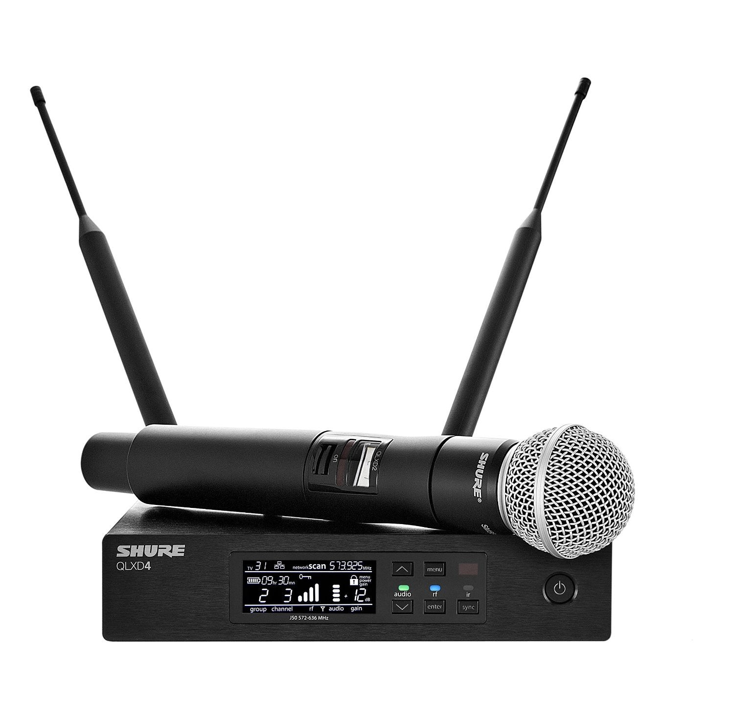 Shure QLXD24/SM58 Handheld Digital Wireless Microphone System (SIngle)