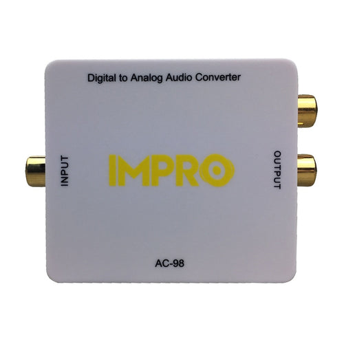 ImPro AC-98 Optical SPDIF/Coaxial Digital to RCA L/R Analog Audio Converter
