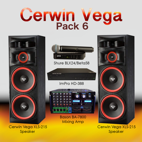 Cerwin Vega Pack #5: Combination of HD-888(8TB), BA-7800, XLS-215, BLX24/Beta58