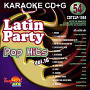 TROPICAL ZONE LATIN PARTY LP1054 Pop Hits Vol. 16