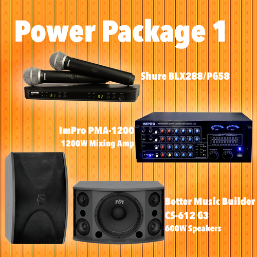 Power Package #01: BLX288/PG58, PMA-1200, CS-612 G3