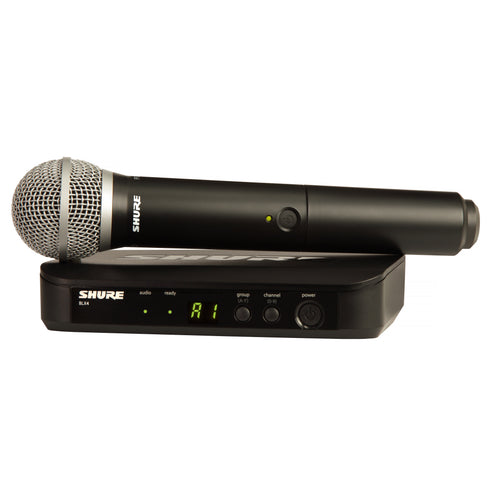 Shure BLX24/PG58 Handheld Wireless PG58 Microphone System (Single)