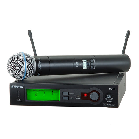 Shure BLX24/BETA58 Handheld Wireless Karaoke System (SINGLE)