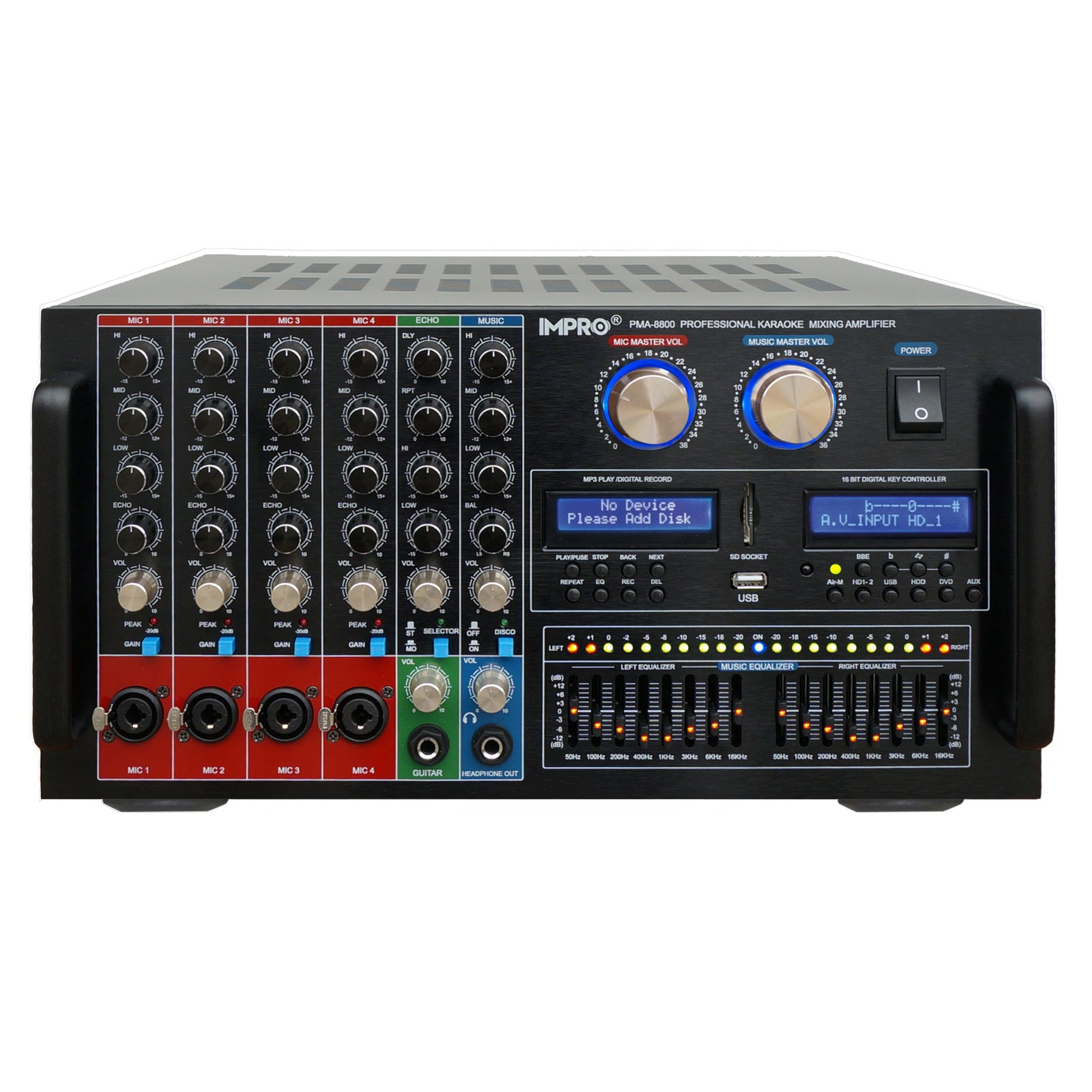 ImPro PMA-8800 1400W Mixing Amplifier