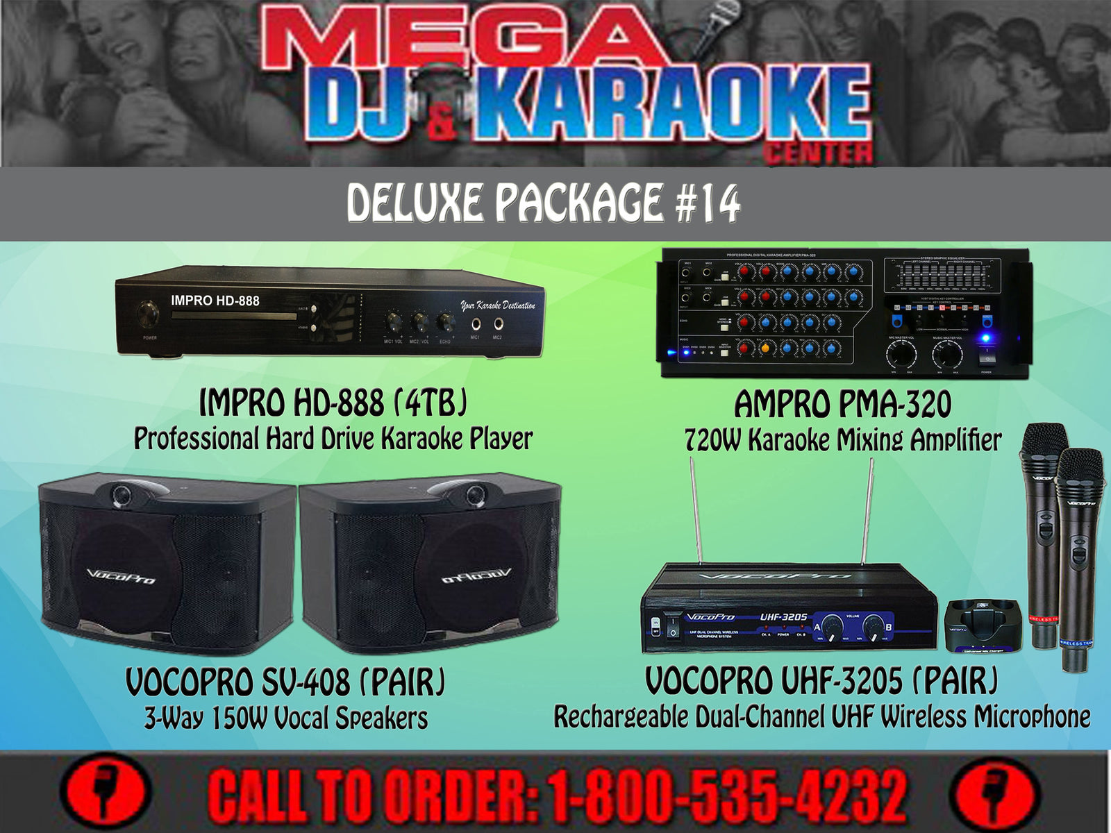 Deluxe Package #14: Combination Of HD-888 (4TB), PMA-320, SV-408, UHF-3205