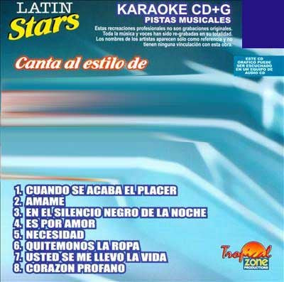 TROPICAL ZONE LATIN STARS LAS149 Alex Ubago Grandes Exitos