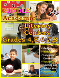 Academic Literacy Centers Grades 4, 5, 6, 7, and 8 BUNDLES (eBooks)