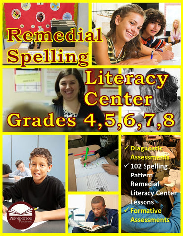 Remedial Spelling Literacy Center (eBook)