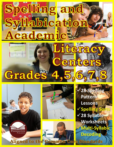 Spelling and Syllabication Academic Literacy Center Grades 4, 5, 6, 7, and 8 (eBook)