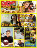 Vocabulary Academic Literacy Center Grades 4, 5, 6, 7, and 8 (eBook)