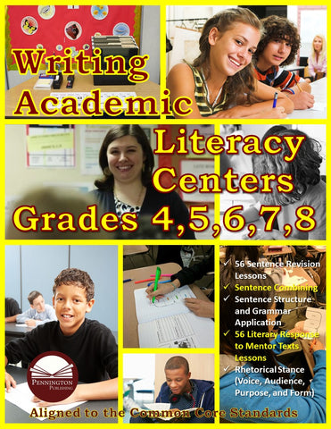 Writing Academic Literacy Center Grades 4, 5, 6, 7, and 8 (eBook)