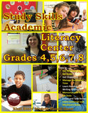 Study Skills Academic Literacy Center Grades 4–8 (eBook)