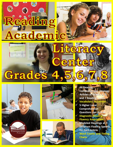 Reading Academic Literacy Center Grades 4–8 (eBook)