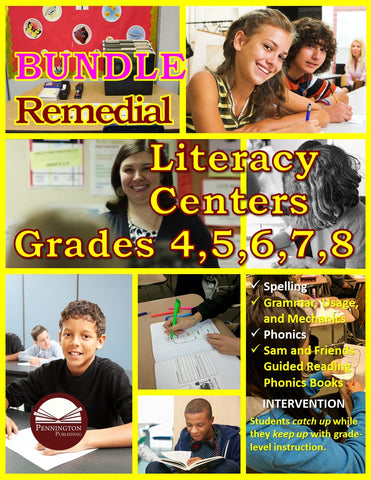 Remedial Literacy Centers BUNDLE (eBook)