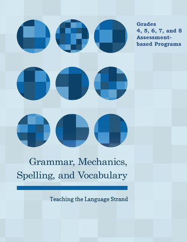 Grammar, Mechanics, Spelling, and Vocabulary Grades 4, 5, 6, 7, and 8 BUNDLES (eBooks)