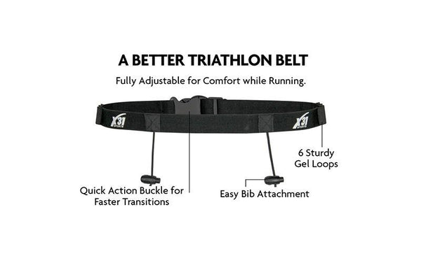 Triathlon Belt with 6 Gel Loops