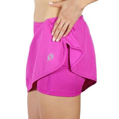 Pink Running Skirt with Shorts