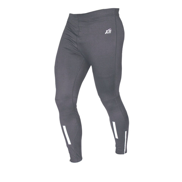 Mens Running Tights with Zipper Pocket and Reflective Details