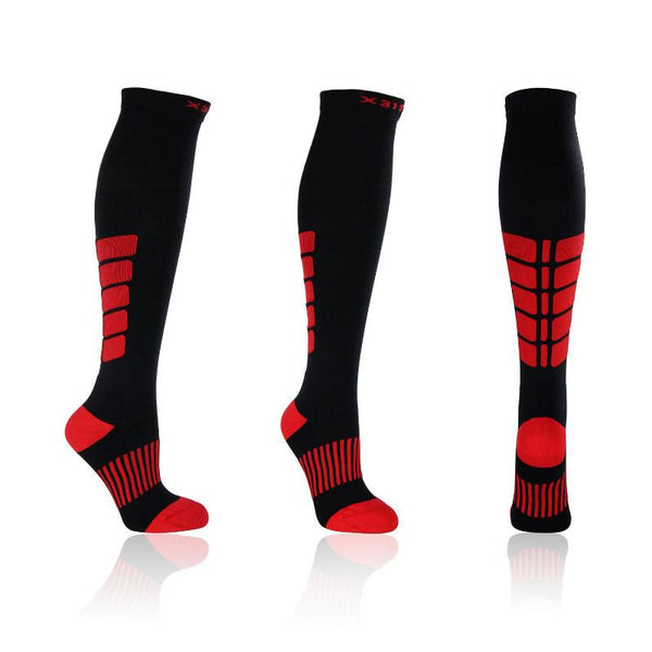 Knee High Socks Black and Red