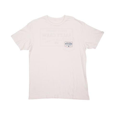 Topstitch White S/S Pocket Tee