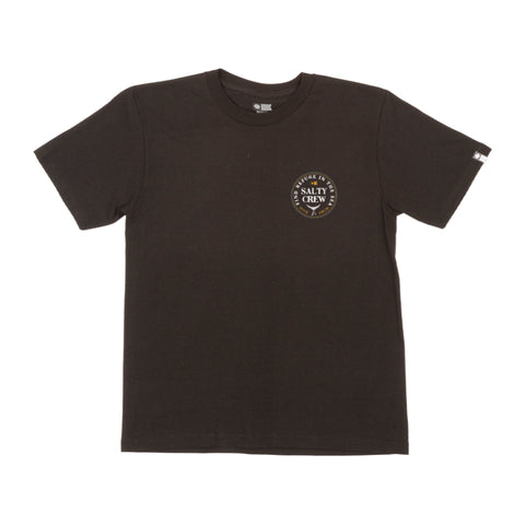 Fathom Black S/S Boys Tee