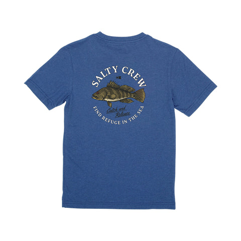 Baybass Blue Heather S/S Boys Tee