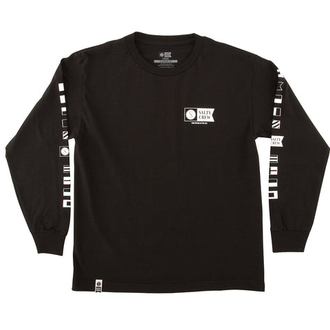 Alpha Black Boys L/S Tee