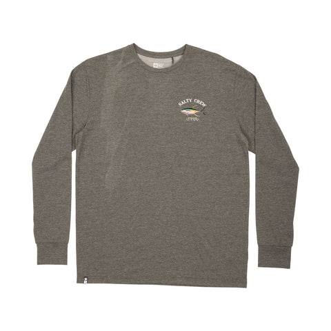Ahi Mount Charcoal Tech L/S Tee