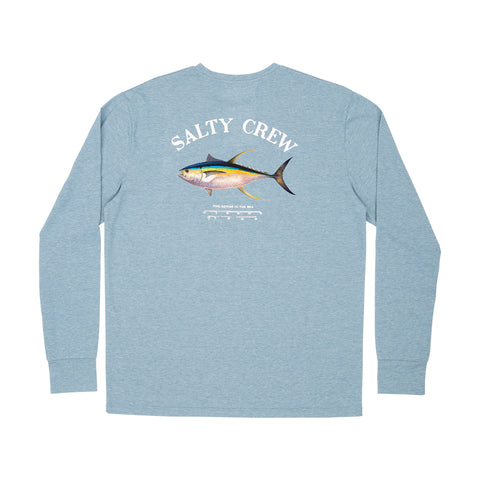 Ahi Mount Harbor Blue Tech L/S Tee
