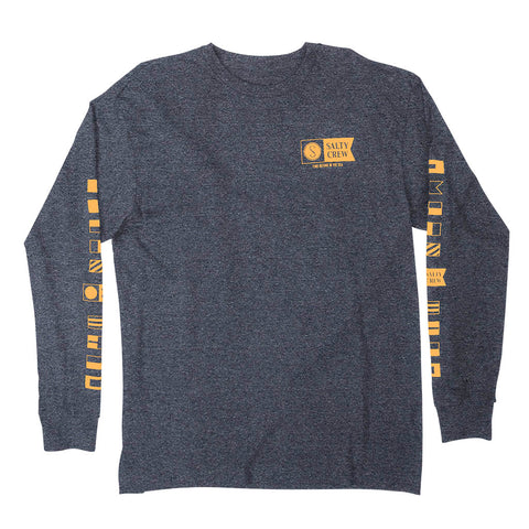 Alpha Navy Heather L/S Tee