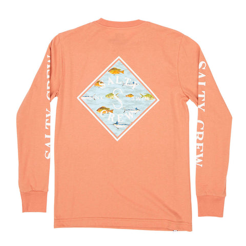 Tippet Nomad L/S Coral Boys Tee