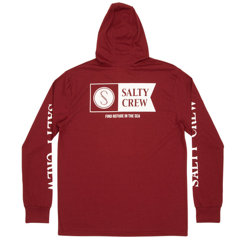 Alpha Burgundy Hood Tech Tee