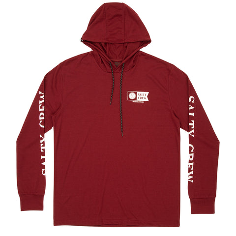 Alpha Hood Tech Tee - Burgundy