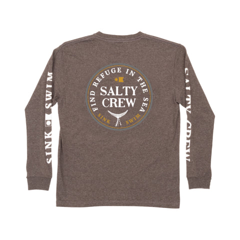 Fathom Charcoal Heather L/S Boys Tee