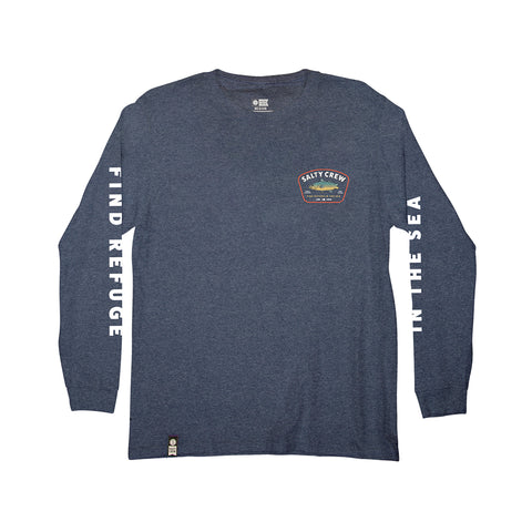 Creature Navy Heather L/S Boys Tee