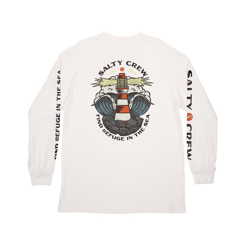 Beacon White L/S Tee