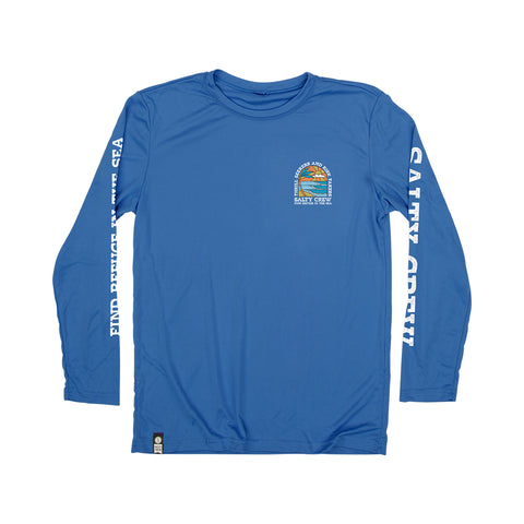 Paradiso Royal Heather Boys L/S Rashguard