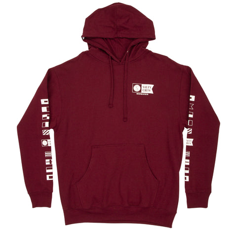 Alpha Burgundy Hood Fleece