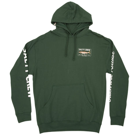Steelhead Alpine Green Hood Fleece