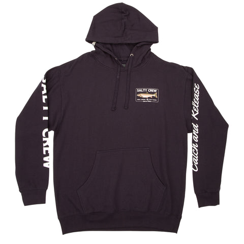 Steelhead Navy Hood Fleece