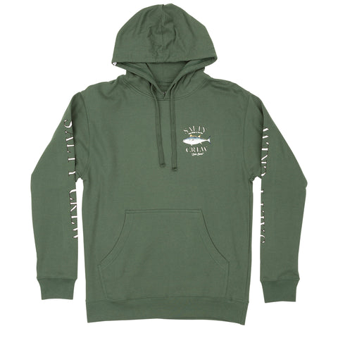 Big Blue Alpine Green Hood Fleece