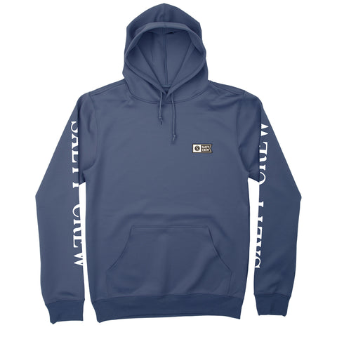 Alpha Tech Navy Hooded Fleece