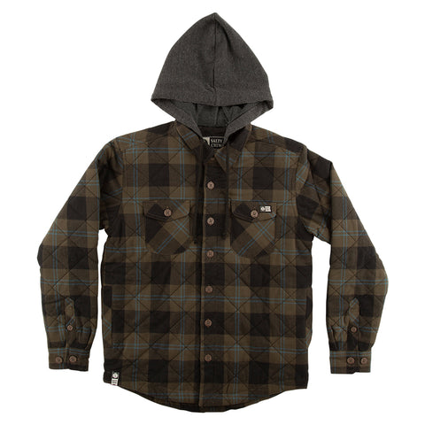 Dock Flannel Boys Olive Jacket