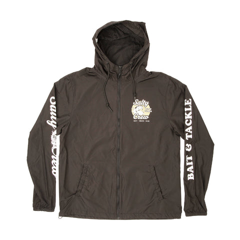 Bait And Tackle Black Windbreaker