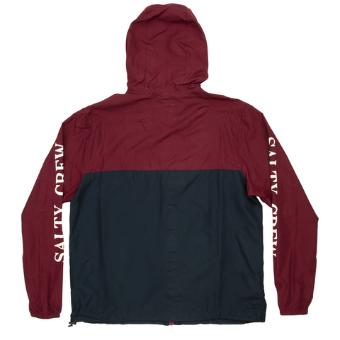 S-Hook Burgundy Navy Windbreaker