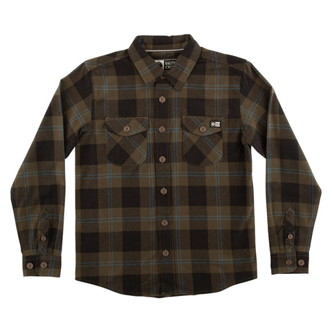 Inshore Boys Olive Flannel