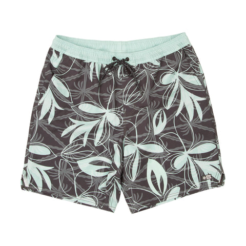 Island Days Black Jade Elastic Boardshorts