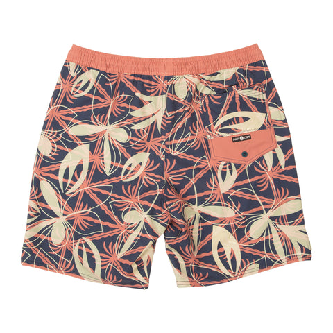 Island Days Navy Elastic Boardshorts